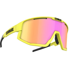 Bliz Fusion Brille matt neon yellow/brown with purple multi
